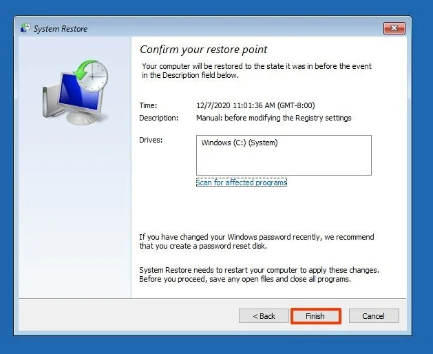 How to Create a System Restore Point on Windows 10