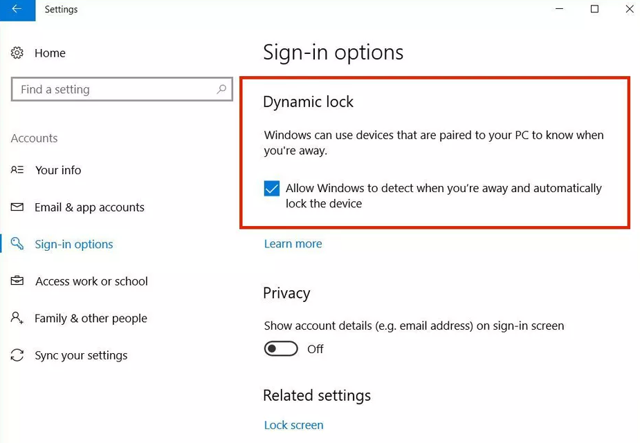 How to Setup Dynamic Lock on Windows 10 (Guide)